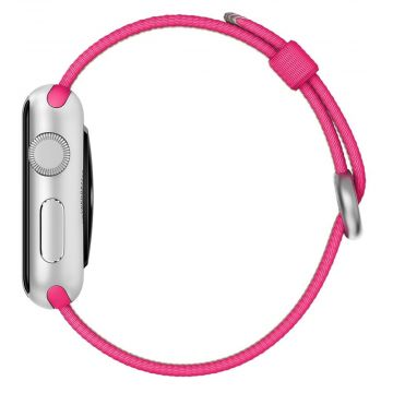 Bracelet Nylon Tressé Rose Apple Watch 42mm