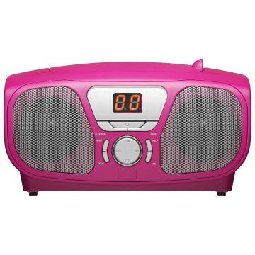 Bigben Pink Portable CD Player + 300 Stickers
