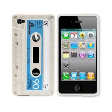 Coque Housse IPhone 4 4S Game Boy Blanc Silicone