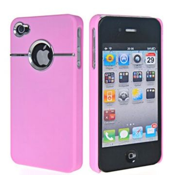 Cover Silver Line Roze iPhone 4 4S