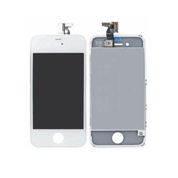 1.Qualität iPhone 4S Weiss Displayglass, Touch Screen, Front Deco Rahmen