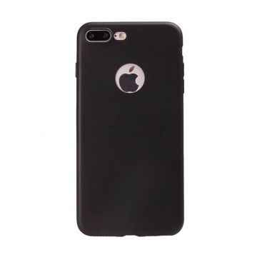 Siliconen Cover iPhone 7 Plus / iPhone 8 Plus - Zwart