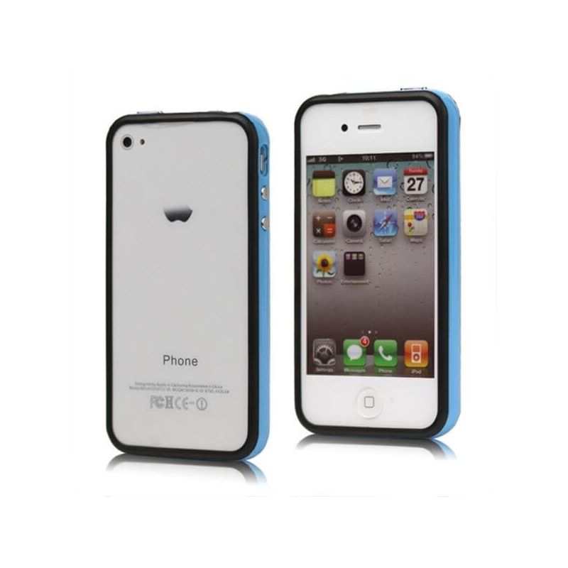 Bumper TPU for iPhone 4 & 4S Blue & Black