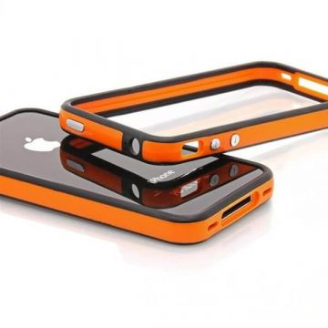 Bumper TPU for iPhone 4 & 4S Orange & Black