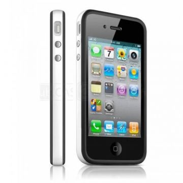 Bumper TPU for iPhone 4 & 4S White & Black