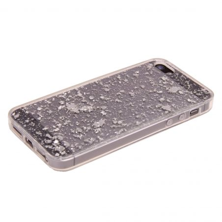 Silver Flakes iPhone 5/5S/SE Case