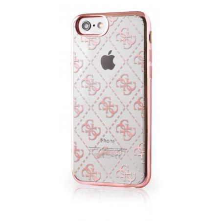 Guess Clear Pink Case iPhone 7