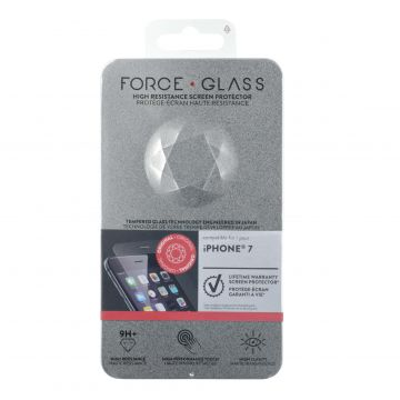 Protège-écran Force Glass Garanti à vie iPhone 6 / iPhone 6S / iPhone 7 / iPhone 8