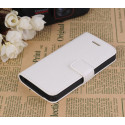Etui portefeuille stand blanc iPhone 5
