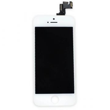 Original Glass digitizer complete assembled, LCD Retina Screen and Full Frame for iPhone SE White