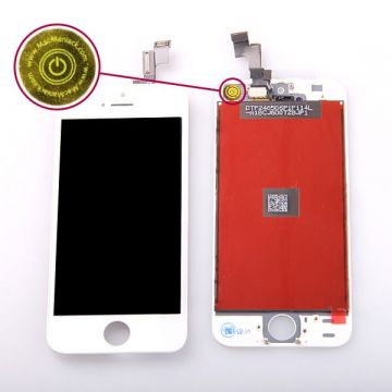 Original Glass digitizer and LCD Retina Screen for iPhone SE White