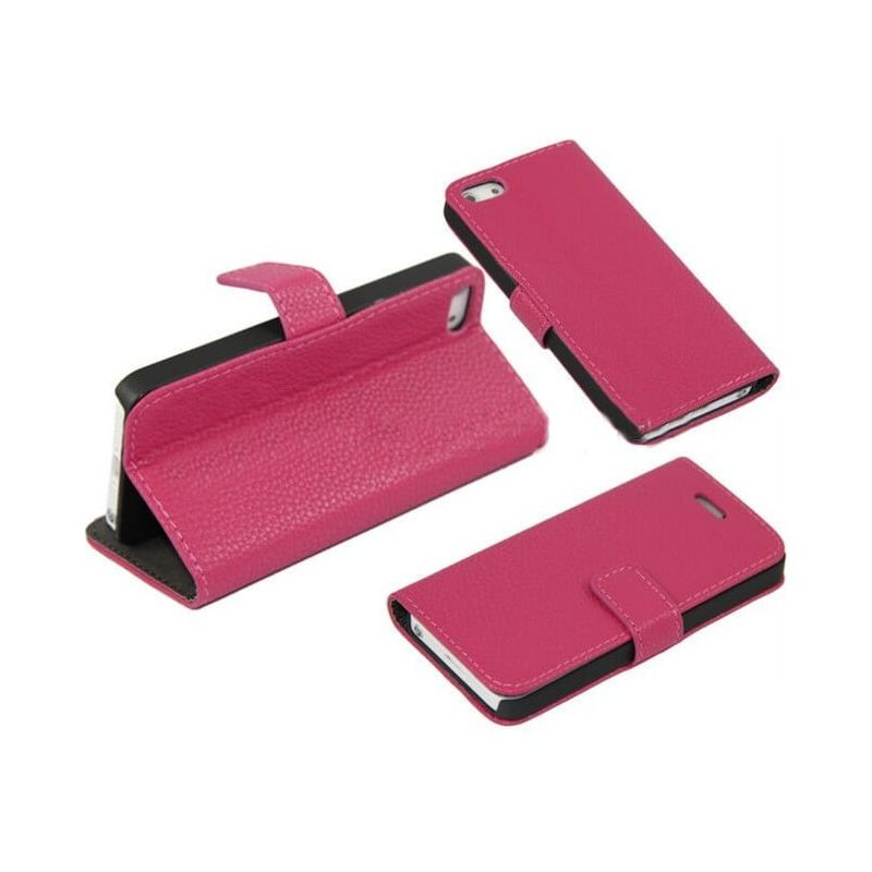 Portfolio Stand Case Hot Pink iPhone 5/5S/SE