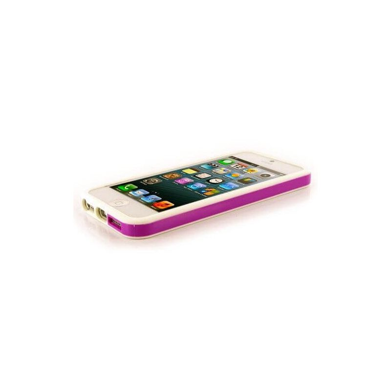 TPU Bumper White and Fuschia for iPhone 5/5S/SE