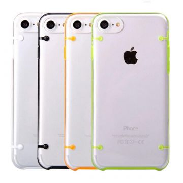 TPU soft iPhone 7 / iPhone 8 case with coloured frame