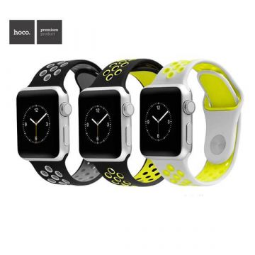 Bracelet sport en silicone Hoco Apple Watch 42mm