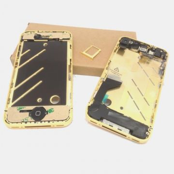 Frame Metallic Border Bezel Full Assembly for iPhone 4 Gold