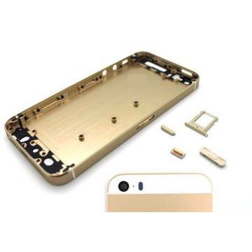 Complete frame and metallic border for iPhone 5s Gold
