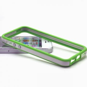 Bumper groen en witte rand in TPU IPhone 5