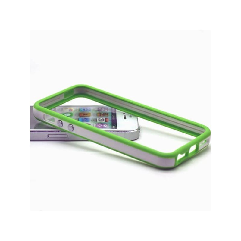 TPU Bumper White and Green for iPhone 5/5S/SE