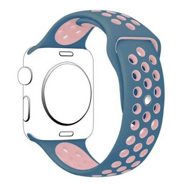 Bracelet Apple Watch Silicone Sport 38mm Bleu
