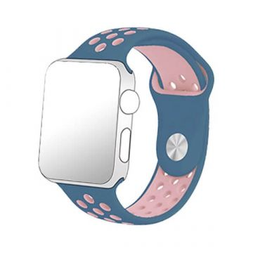 Siliconen bandje Sport Apple Watch 38mm Blauw