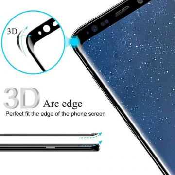 Screen Tempered glass Protector 3D Black for Samsung Galaxy S8
