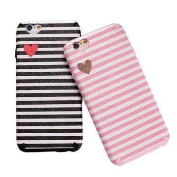 TPU Case Heart and Lines iPhone 6 / iPhone 6S