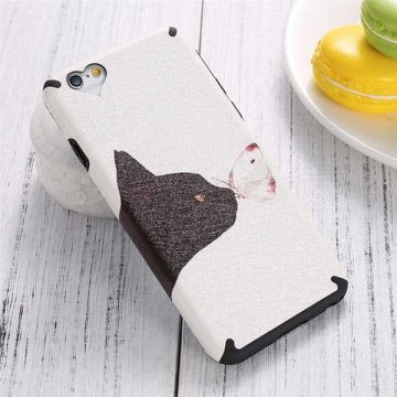 Coque TPU Chat et Papillon iPhone 6 / iPhone 6S