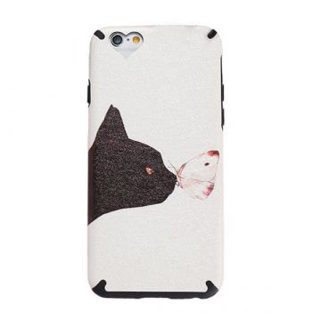 TPU Case Cat and Butterfly iPhone 6 / iPhone 6S