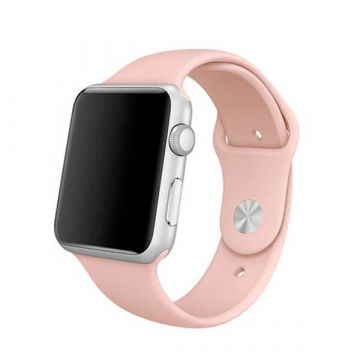 Lichtroze siliconen bandje Apple Watch 38mm S/M M/L