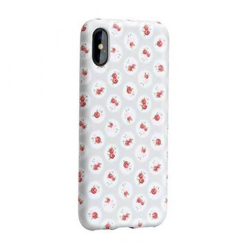 Beige case with flower print iPhone X