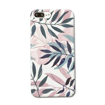 Coque rigide Soft touch feuilles imprimées iPhone 6 / iPhone 6S