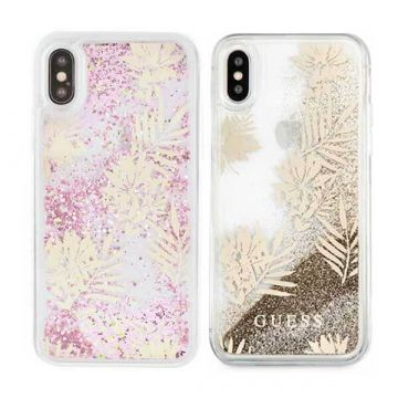 Coque Glitter Palm Spring Guess iPhone X Xs