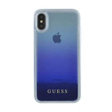 Coque Glitter Blue Guess iPhone X