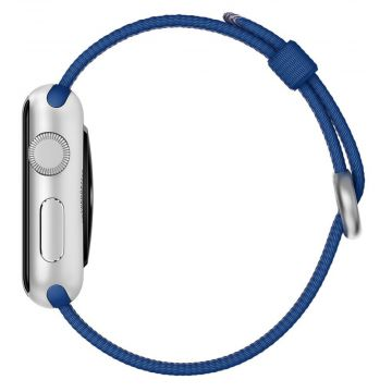 Royal Blue Woven Nylon Band Apple Watch 42mm