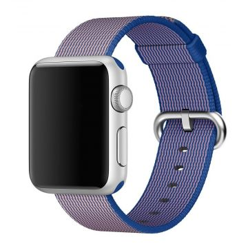 Armband Nylon gevlochten King Blue Apple horloge 38mm