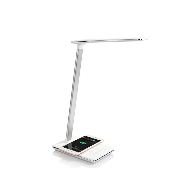 LED lamp with wireless charger QI