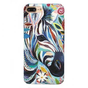 Coque rigide Soft touch Art Serie Zèbre iPhone 8 Plus / 7 Plus
