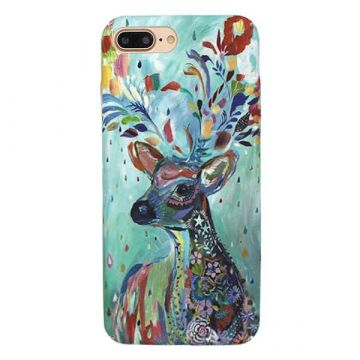 Coque rigide Soft touch Art Serie Cerf iPhone 8 Plus / 7 Plus