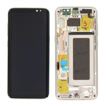 Original quality complete screen for Samsung Galaxy S8 in gold