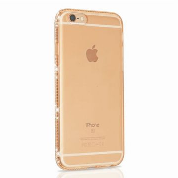 Transparante TPU shell met iPhone 6/6S strass randen