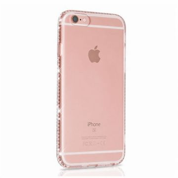 Coque TPU transparente bords en strass iPhone 6 / 6S