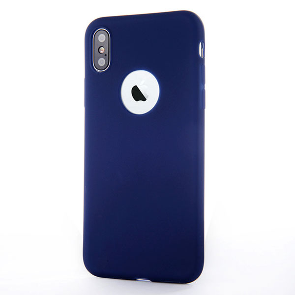 Coque Silicone iPhone X Xs - Bleu Nuit