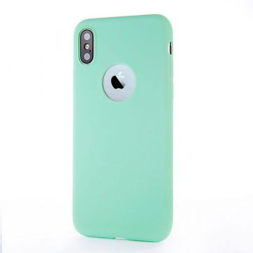 Coque Silicone iPhone X - Turquoise