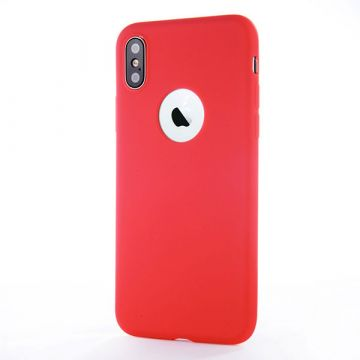 Coque Silicone iPhone X - Rouge Corail