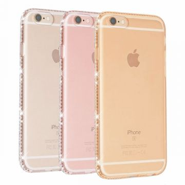TPU soft case Transparent Edge in strass iPhone 6 / 6S