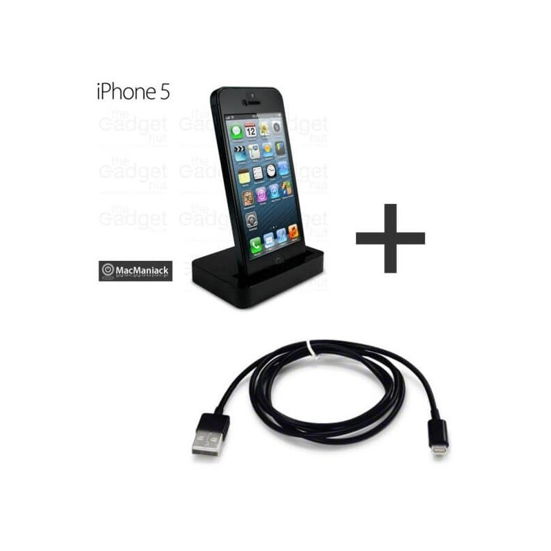 Pack 2 in 1 Dock and  lightning cable iPhone 5