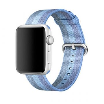 Lake Blue Woven Nylon Band Apple Watch 38mm