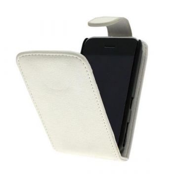 Case With Leatherlook Material White For iPhone 3G 3GS