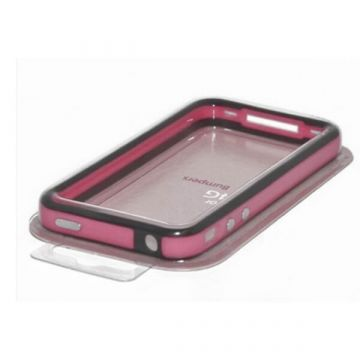 Bumper TPU for iPhone 4 & 4S Red & Black